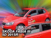 Plexi, ofuky Škoda Fabie III 5D 2014r => htb, combi, přdní +zadní