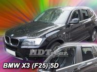 Plexi, ofuky BMW X3 F25 5D 2010R=> předná +zadní
