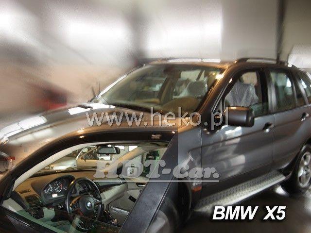 Plexi, ofuky BMW X5 5D 2001--06, přední HDT