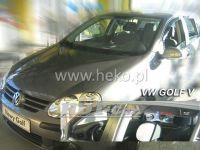 Plexi, ofuky VW Golf V 5D 2004, + zadní