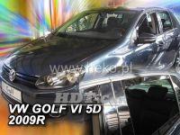 Plexi, ofuky VW Golf VI, 5D 2008 =>, přední + zadní