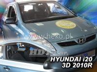 Plexi, ofuky Hyundai i20 3D 2010 =>, přední