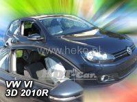 Plexi, ofuky VW Golf VI 3D 2009 =>, přední