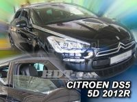 Plexi, ofuky Citroen DS5 5D 2012 =>, 2ks predné