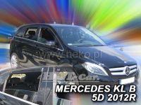 Plexi, ofuky Mercedes B W246 5D 2011 =>, přední+ zadní