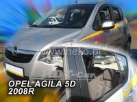 Plexi, ofuky OPEL Agila 5D 2008 => přední + zadní