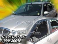 Plexi, ofuky ROVER 45 4D, 99-2004 přední + zadní