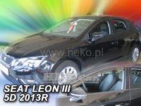 Plexi, ofuky Seat Leon III 5D 2013 =>, přední 2ks