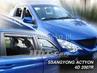 Plexi, ofuky Ssangyong ACTYON Sports 4D, 2007 =>, přední + zadní