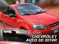 Plexi, ofuky Chevrolet Aveo 3D 2005 =>, přední