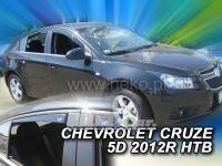Plexi, ofuky Chevrolet Cruze 5D, htb, 2011 => přední + zadní