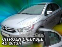 Plexi, ofuky Citroen C-Elysee 4D 2013r=> přední + zadní
