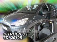Plexi, ofuky Citroen C3 5D 2010 => predné