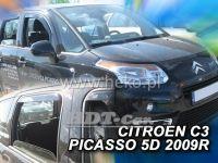 Plexi, ofuky Citroen C3 Picaso 2009r =>, sada 4ks přední+zadní