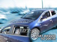 Plexi, ofuky Fiat Bravo 5D 2007 =>, přední + zadní