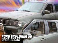 Plexi, ofuky Ford Explorer 5D 02--05R přední + zadní