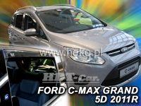Plexi, ofuky Ford Grand C-MAX 5D 2011 =>, přední + zadní