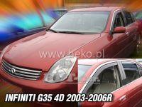 Plexi, ofuky Infiniti G35 4D 2003-2006r, přední + zadní