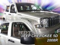 Plexi, ofuky JEEP Cherokee 5D 2008 =>, přední + zadní