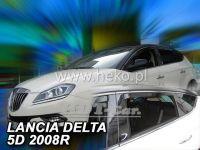 Plexi, ofuky Lancia Delta 5D 2008 =>, přední + zadní