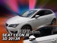 Plexi, ofuky Seat Leon III 3D 2013r =>, 2ks přední