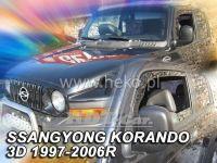 Plexi, ofuky Ssangyong KORANDO 3D, 97-2006, přední
