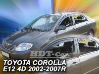 Plexi, ofuky Toyota Corolla 4/5D 2002-2007 sedan, přední + zadní