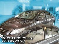 Plexi, ofuky Toyota Corolla 4D 2007 =>, sedan, přední + zadní
