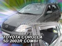 Plexi, ofuky Toyota Corolla 5D 2002-2007 combi, přední + zadní