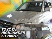 Plexi, ofuky Toyota Highlander 2001-2007 USA, přední + zadní
