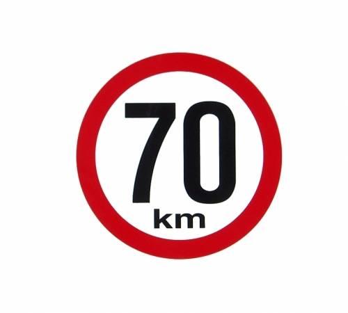 Samolepka omezení rychlosti 70km, prům 15cm AVISA