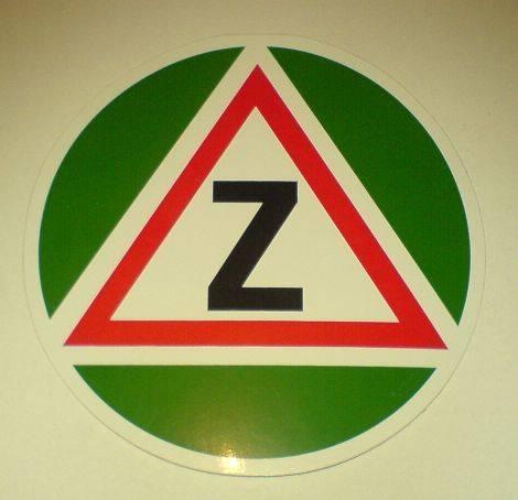 Samolepka znak začátečník 11 cm Vyrobeno v EU