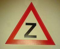 Samolepka Začátečník samolepka trojúhelník 1ks