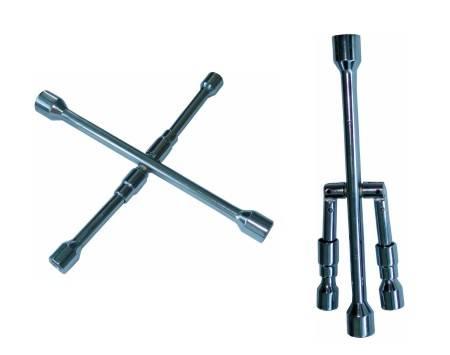 KLÍČ NA KOLA křížový skládací 17,19,21 a 23 mm Plus