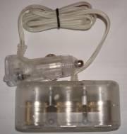 Roztrojka do zásuvky cigaretového zapaľovača 12V, 3x výstup, průhledná 1ks Vyrobeno v EU