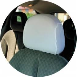 Potah hlavové opěrky bílá do auta univerzální 2ks Erjot
