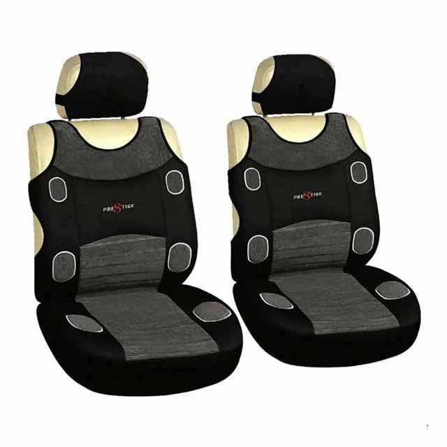 Potahy pro přední sedadla LAS VEGAS šedá na přední sedadla 2ks Vyrobeno v EU