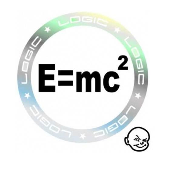 Samolepka na auto E=mc AVISA